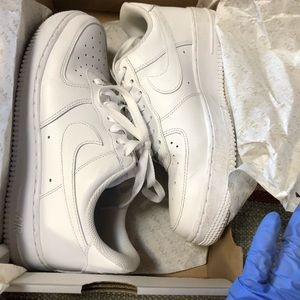 Women's Nike Air Force 1 leather shoes